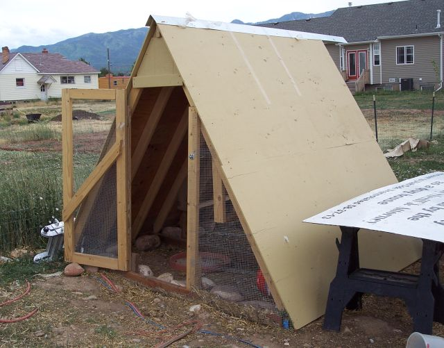 How to make an A-frame chicken coop