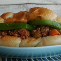 Turkey, Veggie Sloppy Joes